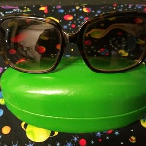 Kate Spade LULU sunglasses with lime green case